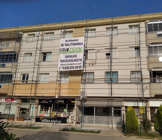 İzmir Gaziemir ısı yalıtımı ve çatı su izolasyon projemiz.